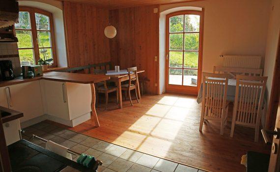 Wohnküche blick zur Terrasse